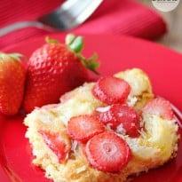 Strawberry & Coconut Breakfast Casserole