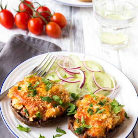 Cheese and Butterbean Stuffed Mushrooms