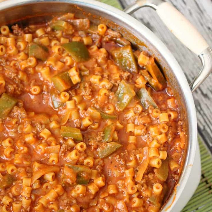 One-Pot Unstuffed Pepper Pasta