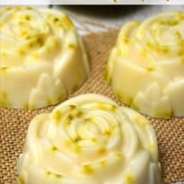 Homemade Zesty Vanilla Rose Soap