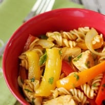 Chicken Fajita Pasta Salad