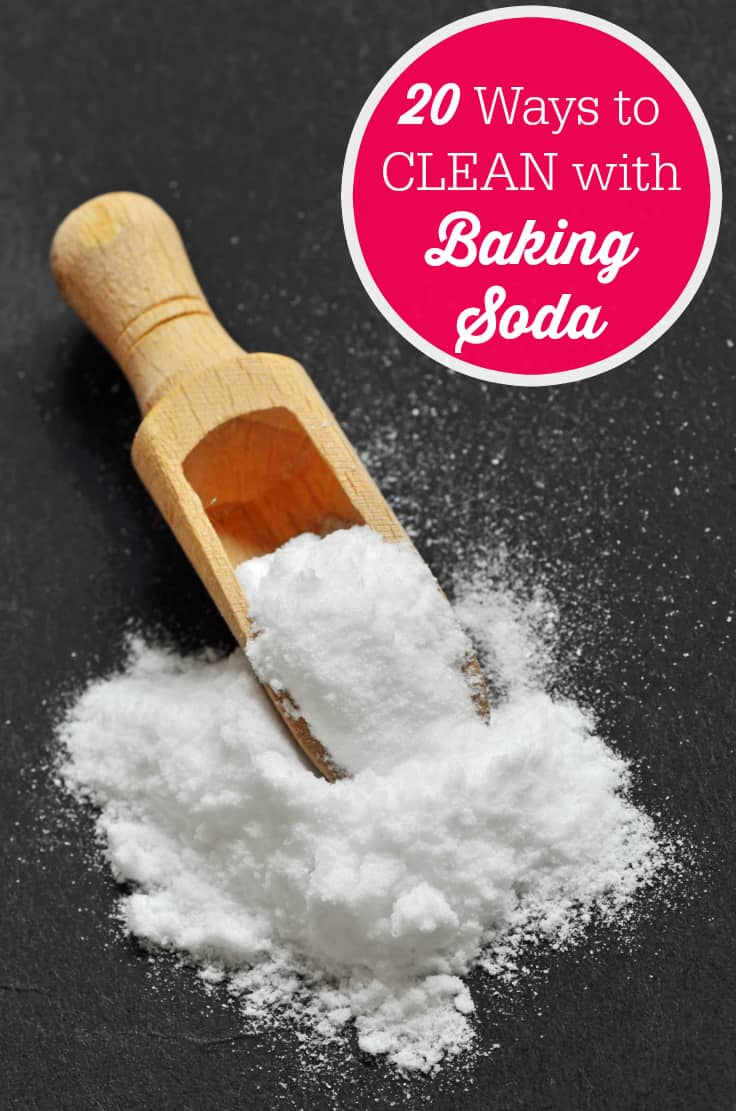20 Ways to Clean with Baking Soda - this is one item I never want to run out of because it has SO many uses!