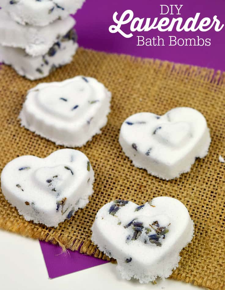 DIY Lavender Bath Bombs - relax the stress away with this simple beauty tutorial. A wonderful gift idea too!