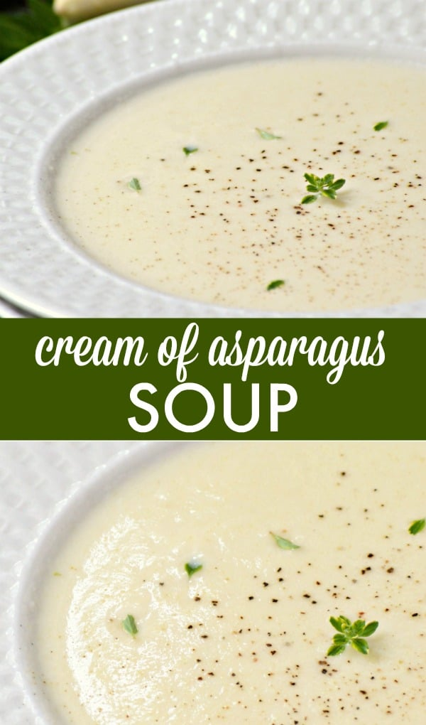 Cream of Asparagus Soup - Smooth and velvety soup recipe made with delicious white asparagus.