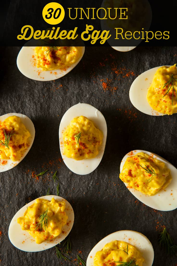 30 Unique Deviled Egg Recipes - 30 Unique Deviled Egg Recipes - these appetizers are anything but ordinary!