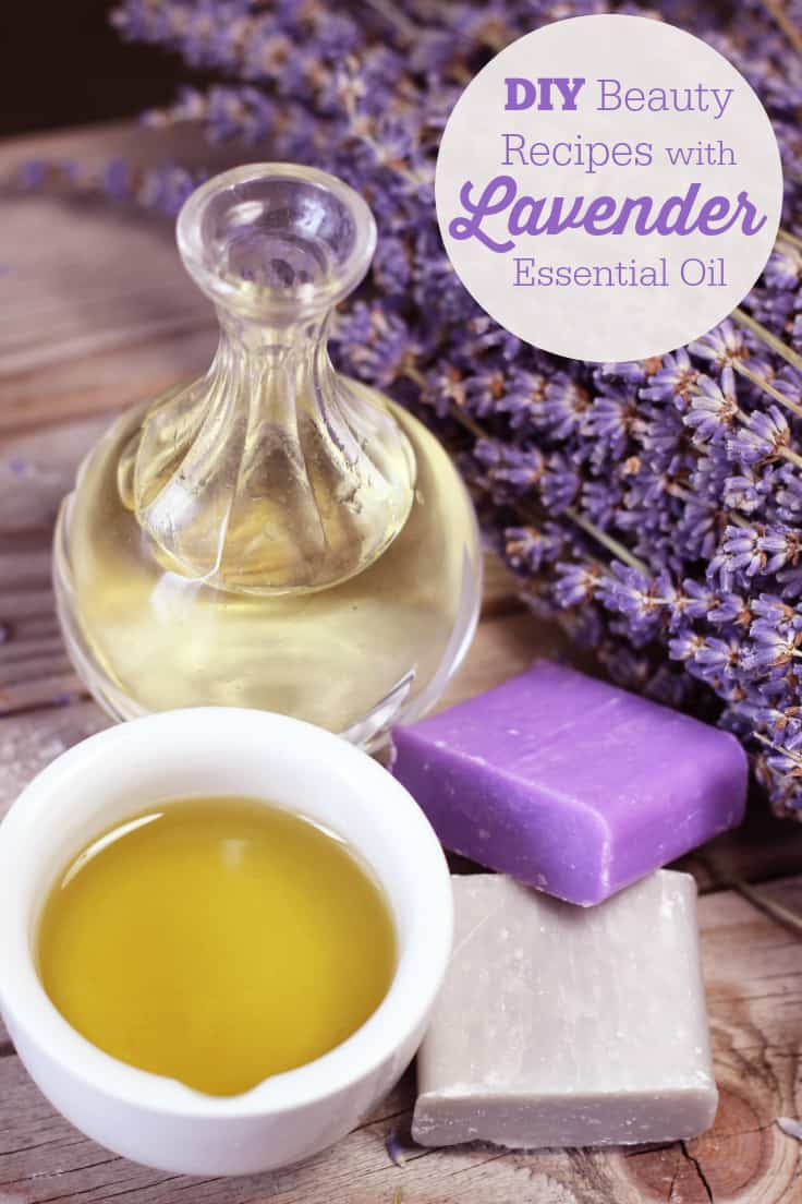 DIY Beauty Recipes with Lavender Essential Oil - pamper your hair, skin, bath and more with this simple list of lavender recipes you can make at home!