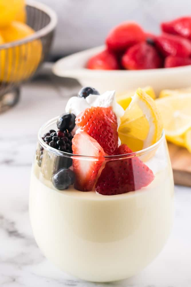 Lemon Cheesecake Mousse - The perfect fluffy lemon dessert! This mousse is lighter than cheesecake, but still tastes like a fresh slice from your favorite NYC eatery.