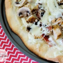 Chicken Bacon Alfredo Pizza