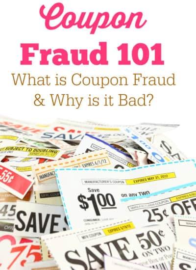 Coupon Fraud 101