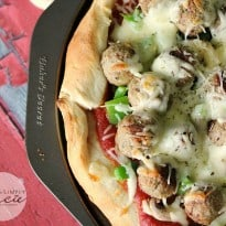 Italian Meatball Pizza