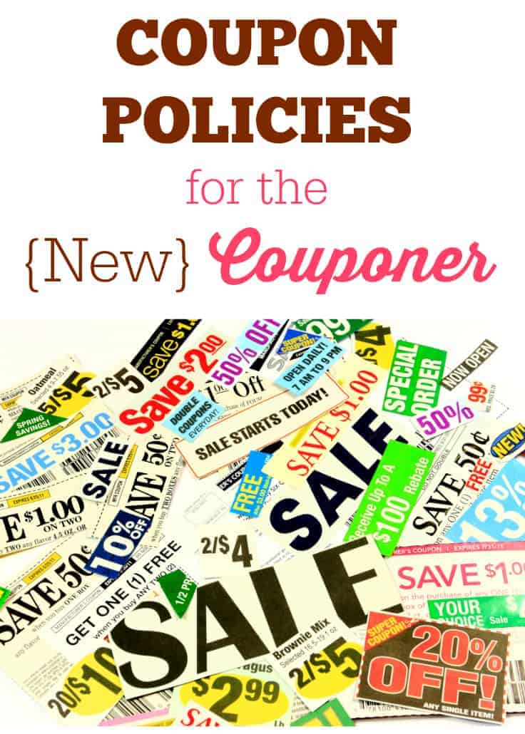 Coupon Policies for the New Couponer
