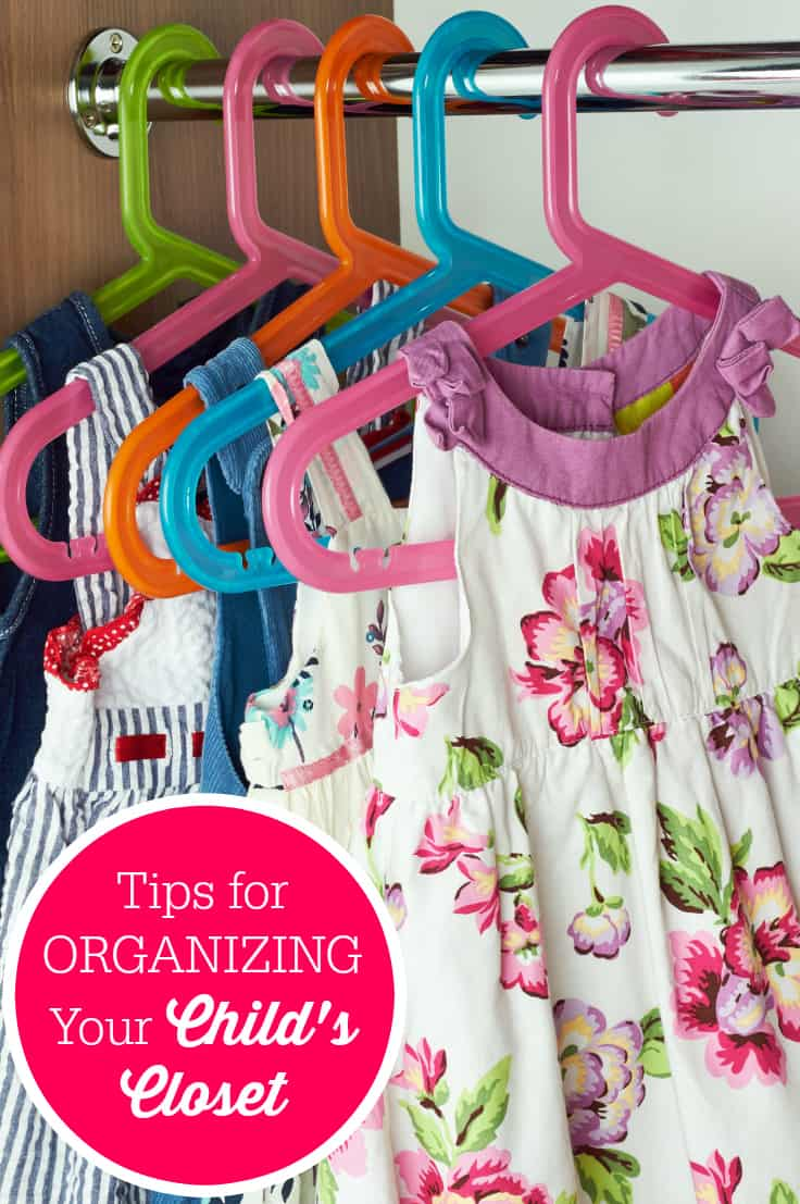 Tips for Organizing Your Child's Closet - get this space ready for school with these simple tips. No more opening the door to an avalanche of stuff!