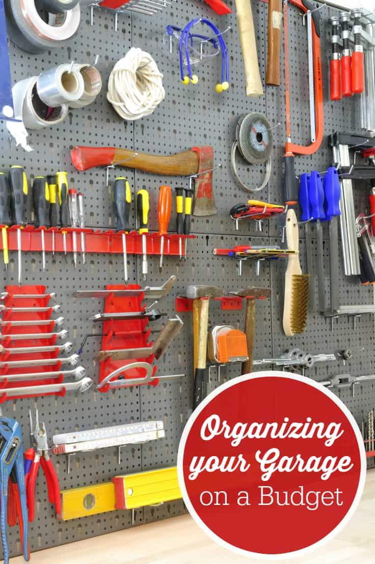 Organizing your Garage on a Budget - It isn't that hard to do with these seven easy tips! You'll be able to use that space in no time.