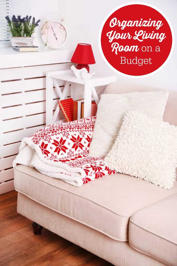 Organizing your living room on a budget simply stacie for Organizing a living room