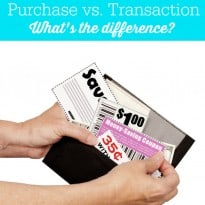 Coupon 101: Purchase vs. Transaction