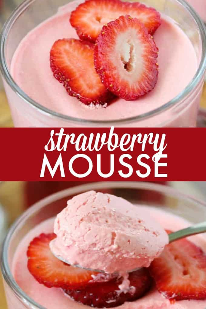Strawberry Mousse - Sweet, light and addicting! Satisfy your sweet tooth with this summertime dessert recipe.