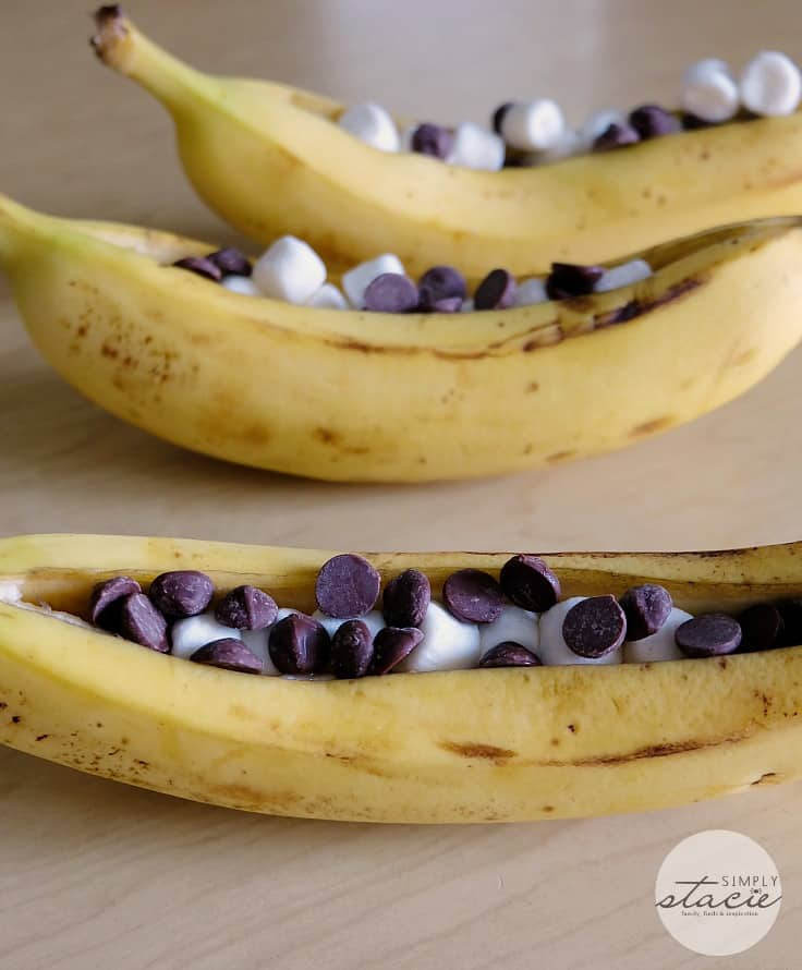 Banana Boats - Make this campfire favourite in your oven at home!