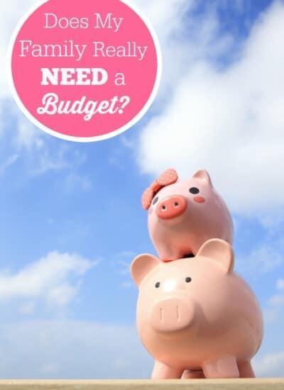 Does My Family Really Need a Budget?