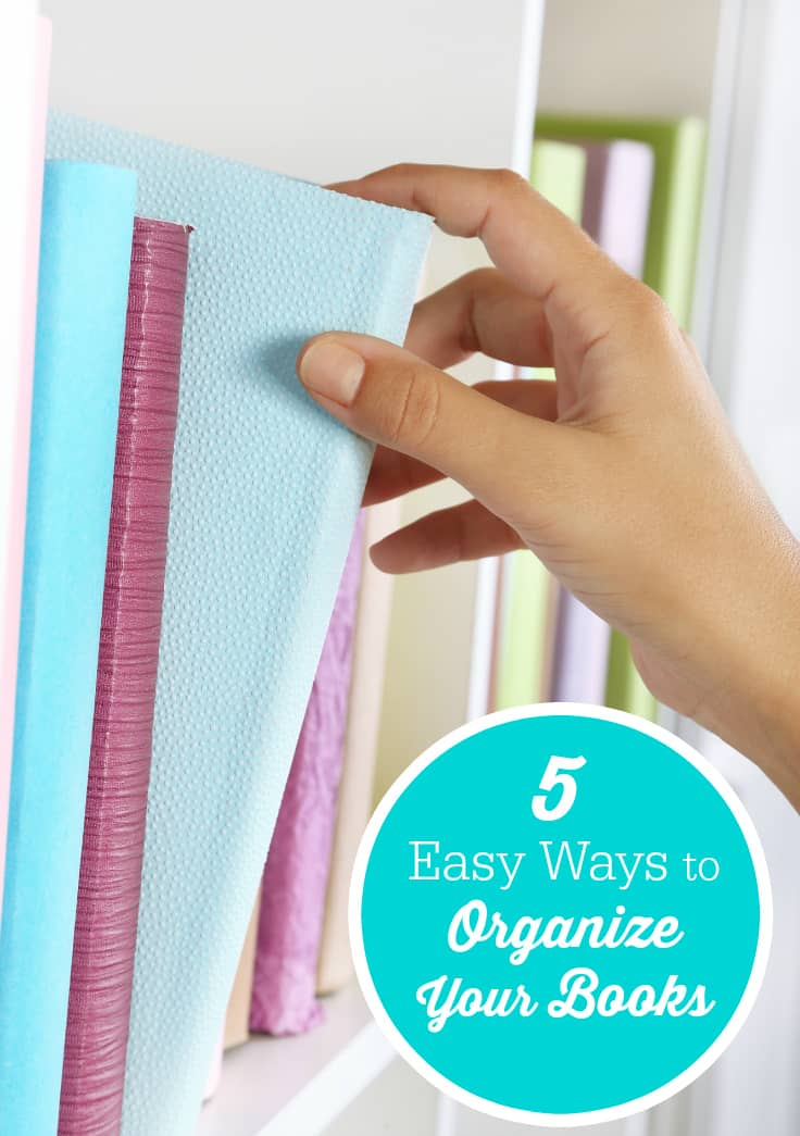 5 Easy Ways to Organize Your Books