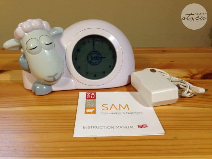 Help Your Child Sleep with SAM Sleep trainer and Nightlight