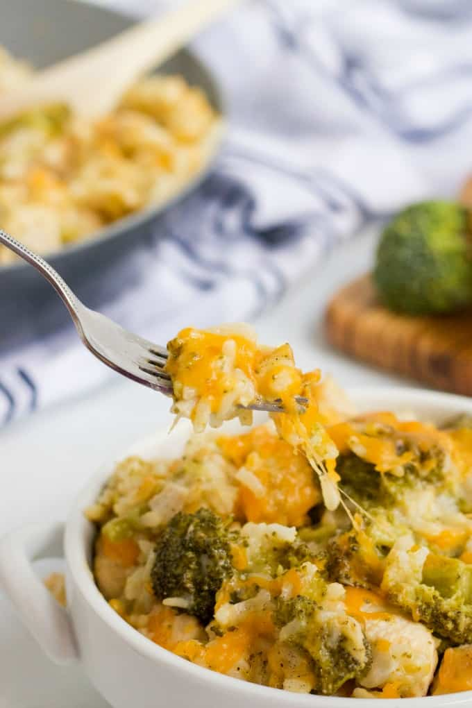 One-Pot Chicken & Broccoli Rice - This is an easy weeknight dinner that you will love whipping up! Tender chicken, creamy rice and broccoli in every single bite. Ready in less than 30 minutes.