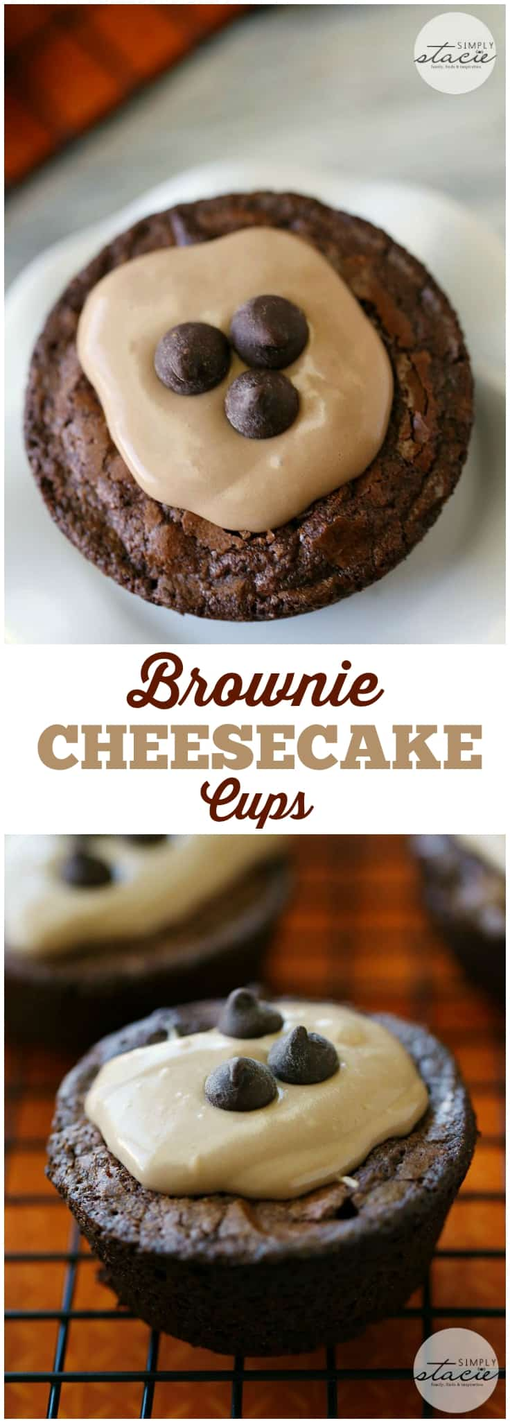 Brownie Cheesecake Cups - A dessert made from a box of brownie mix. It's easy to make and a delight to eat!
