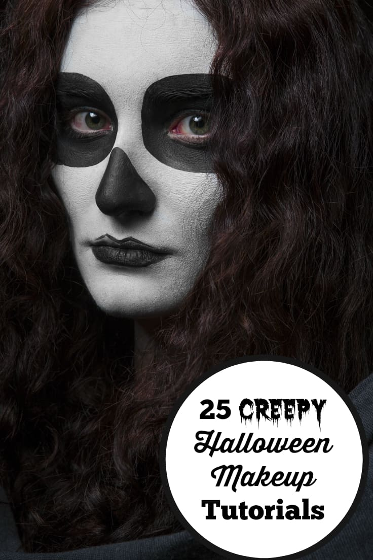 25 Creepy Halloween Makeup Tutorials - Get inspired with these 25 creepy Halloween makeup tutorials with supplies you probably already have on hand!
