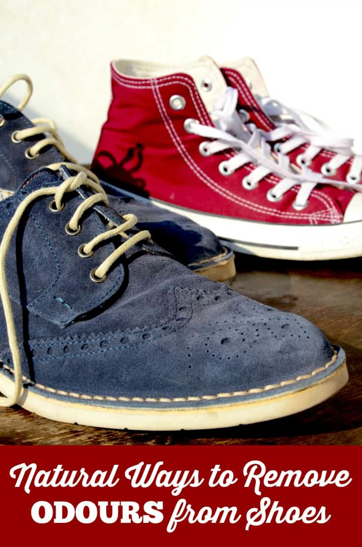 Natural Ways to Remove Odours from Shoes - these tips really WORK! No one likes nasty foot smells.