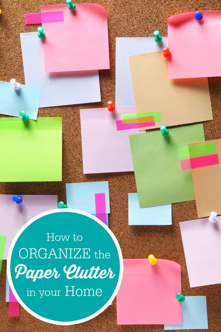 How to Organize the Paper Clutter in your Home - Ever wonder how to organize the paper clutter in your home? These six simple tips will show you how to get a handle on paper clutter to keep your home neat!