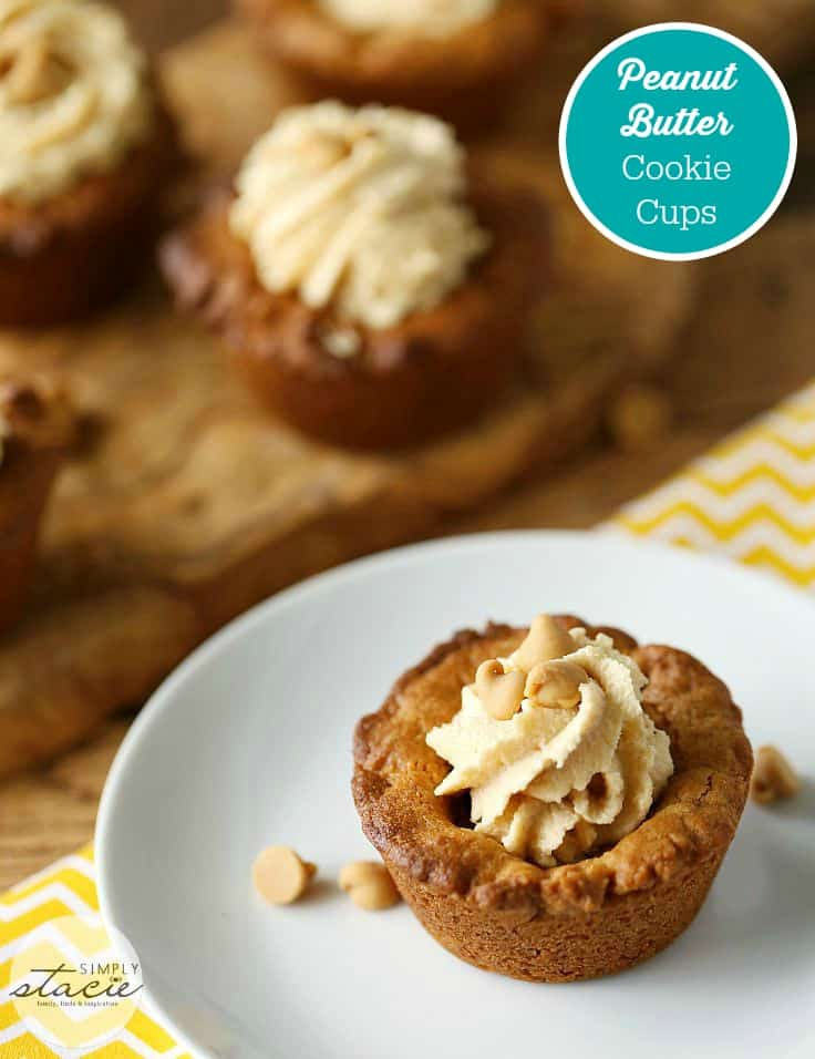 Peanut Butter Cookie Cups - Divine Peanut Butter Cookie Cup recipe that will send you over the edge with peanutty goodness!