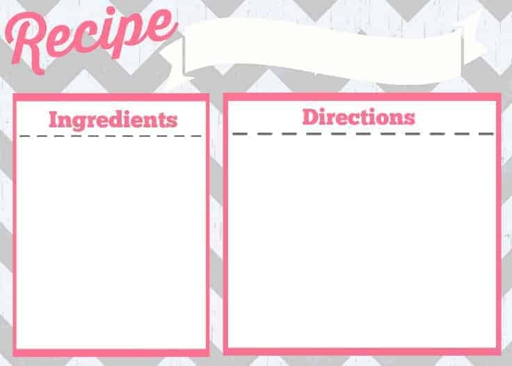 Recipe Card Printable  Simply Stacie