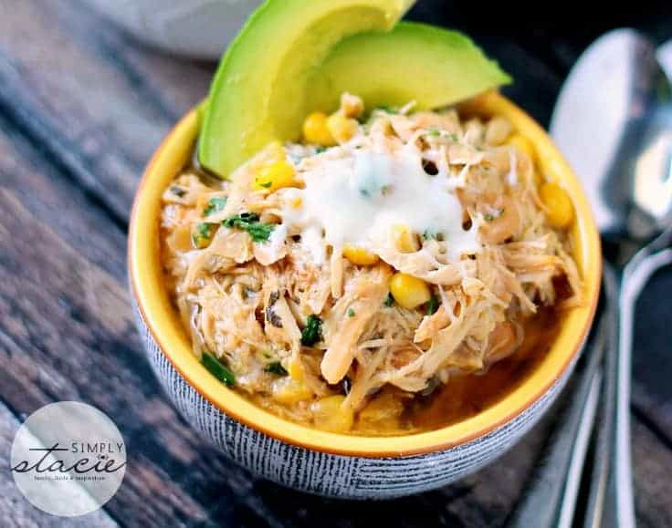 Slow Cooker Verde Chicken Chili - Simply Stacie