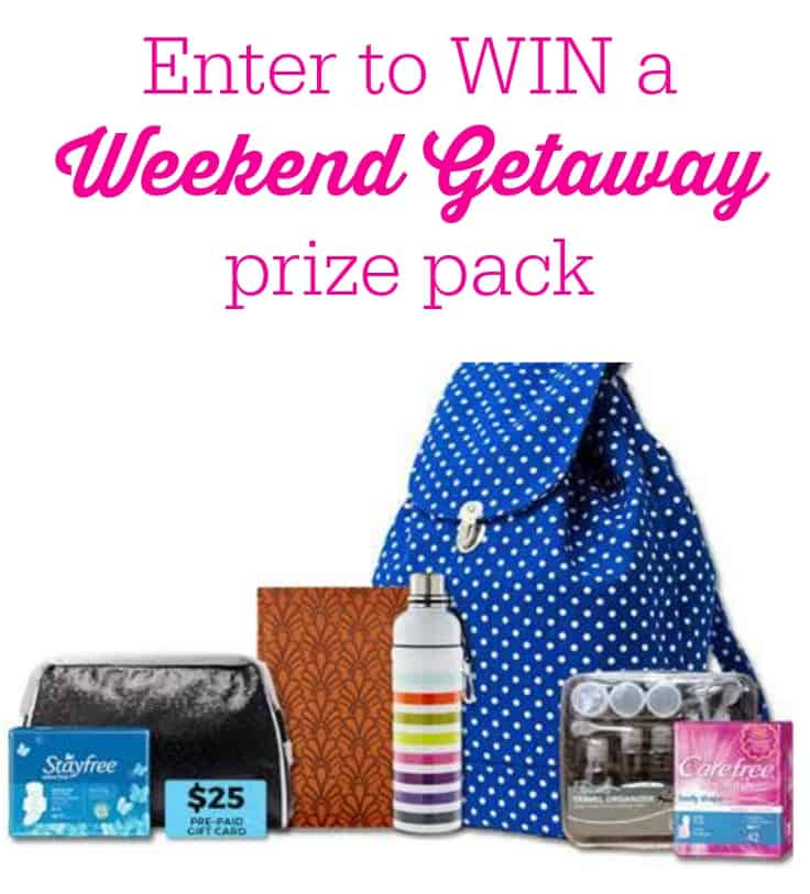 Weekend Getaway prize pack