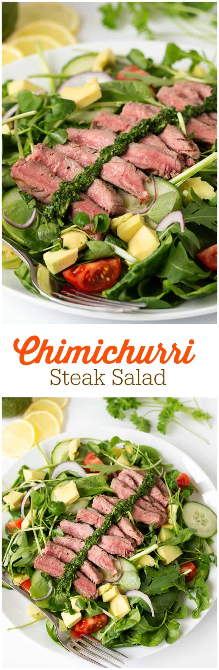 Chimichurri Steak Salad - Simply Stacie