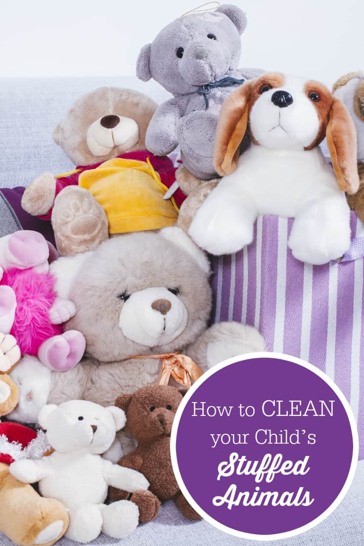 How to Clean your Child's Stuffed Animals - Ever wonder how to clean your child's stuffed animals? This post explains how to get them fresh and clean easily!