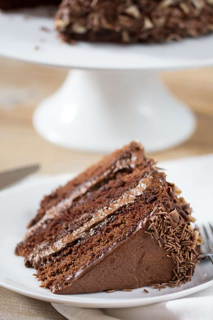 Chocoholics Chocolate Mousse Cake - Luscious and rich, this dessert recipe will satisfy your sweet tooth!