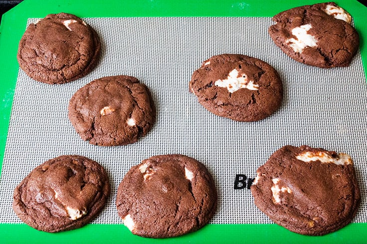 Chewy Chocolate Nougat Cookies - Soft, chewy and chocolatey and full of delicious melted nougat!