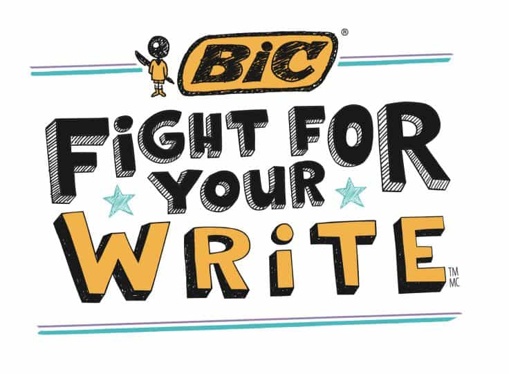 BIC Fight For Your Write pledge