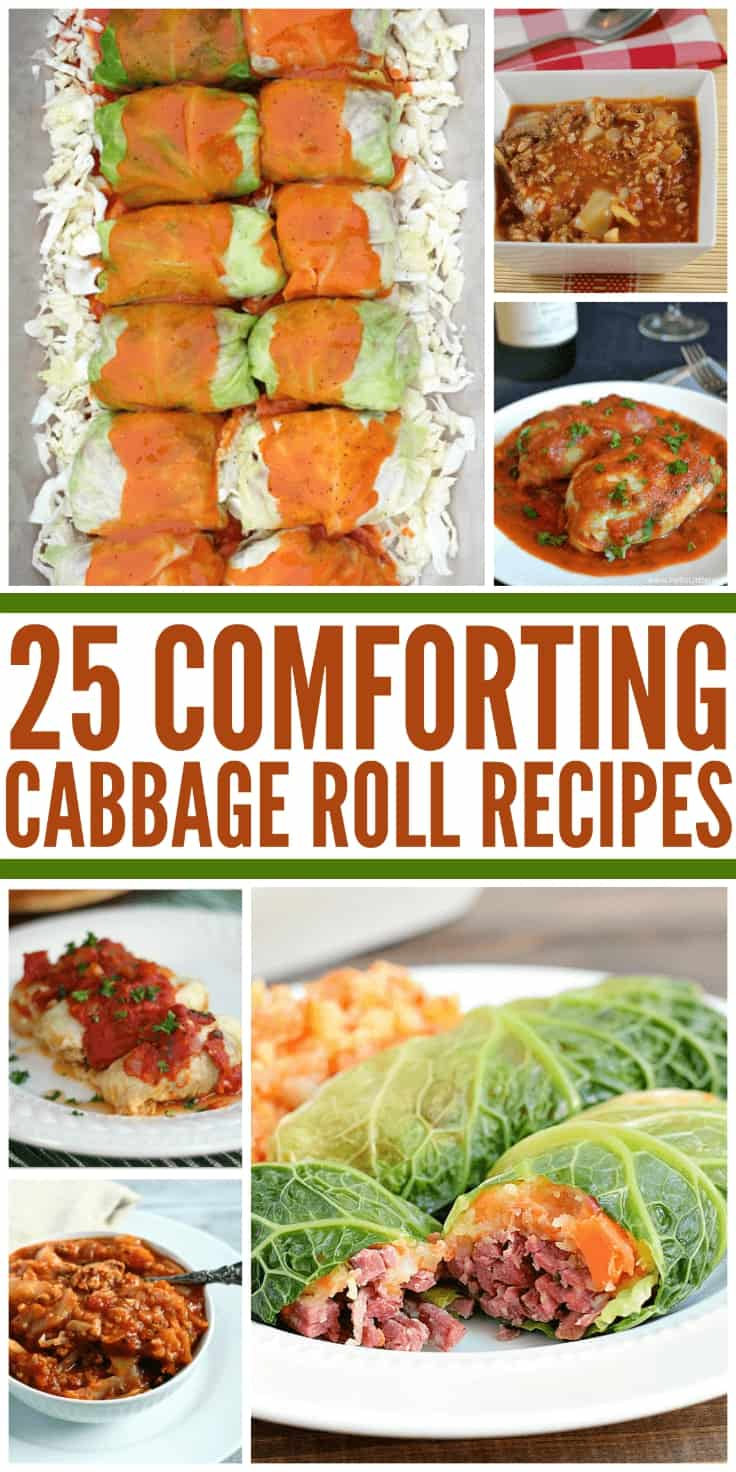 25 Comforting Cabbage Roll Recipes - Fill your belly with these 25 comforting cabbage roll recipes including my recipe for Cabbage Roll Soup!