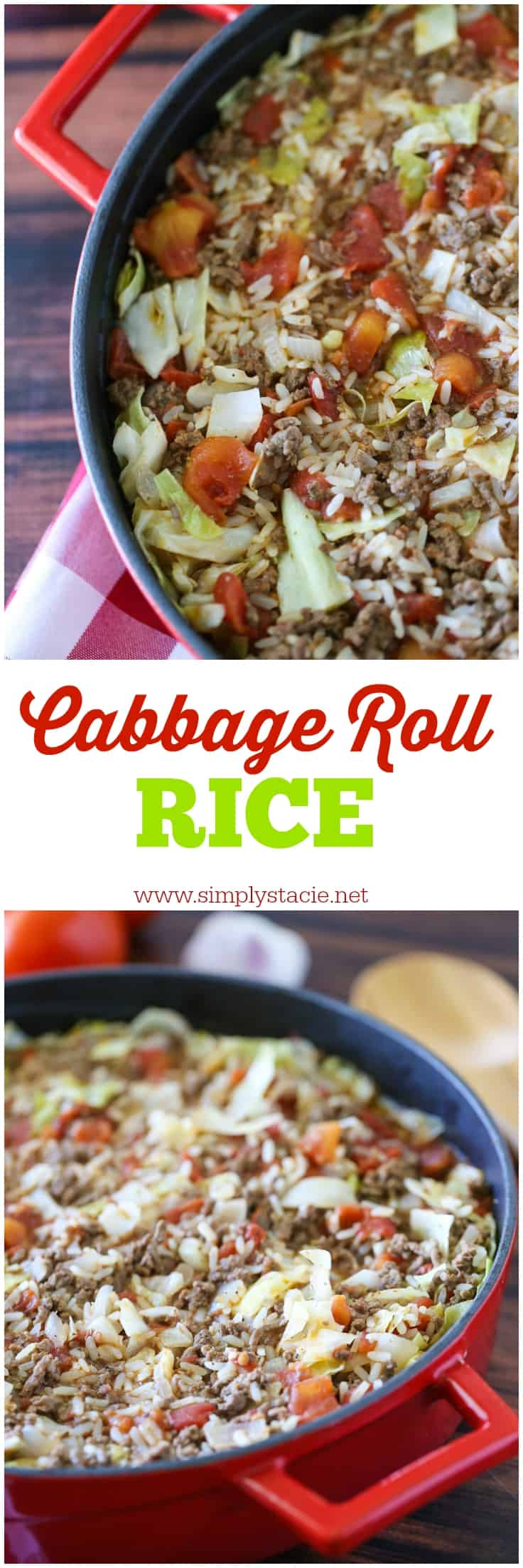 Cabbage Roll Rice - Want the taste of cabbage rolls without the extra work? This Cabbage Roll Rice recipe is exactly what you need. It's easy to make and tastes delicious!