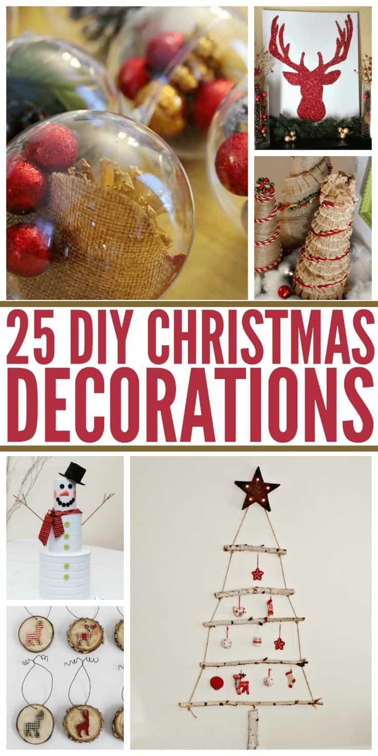 25 DIY Christmas Decorations