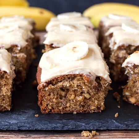 Banana Cake with Toffee Frosting