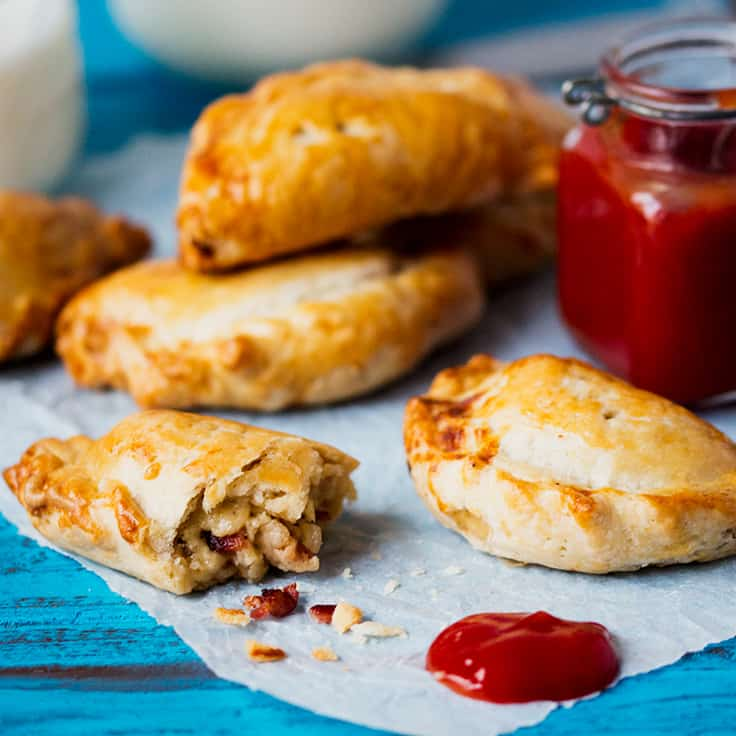 Cheese and Bacon Hand Pies - Comforting and delicious served warm plus they also make a great cold treat in your lunch box.