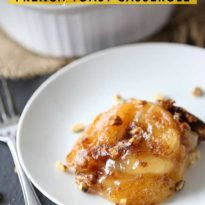 Apple Pie French Toast Casserole - Indulge a little with a slice of this decadent Apple Pie French Toast Casserole. The taste is out of this world!