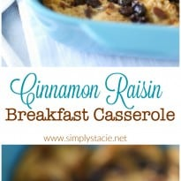 Cinnamon Raisin Breakfast Casserole