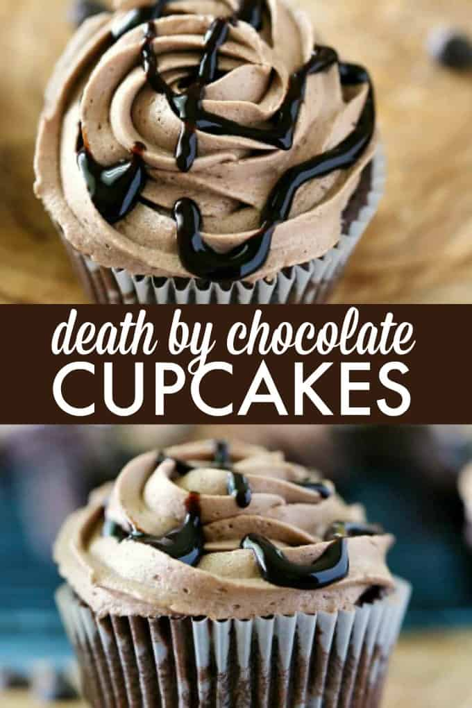 Death by Chocolate Cupcakes - Satisfy your chocolate cravings with this rich and sweet cupcake recipe! Warning: it's VERY chocolatey!