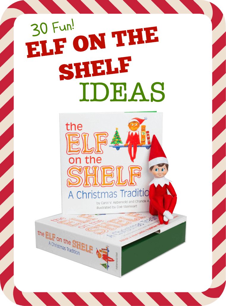 Fun Elf on the Shelf Ideas - After a few nights, parents find they are running out of ideas for their Elf on the Shelf. This list of fun Elf on the Shelf ideas will inspire and delight!