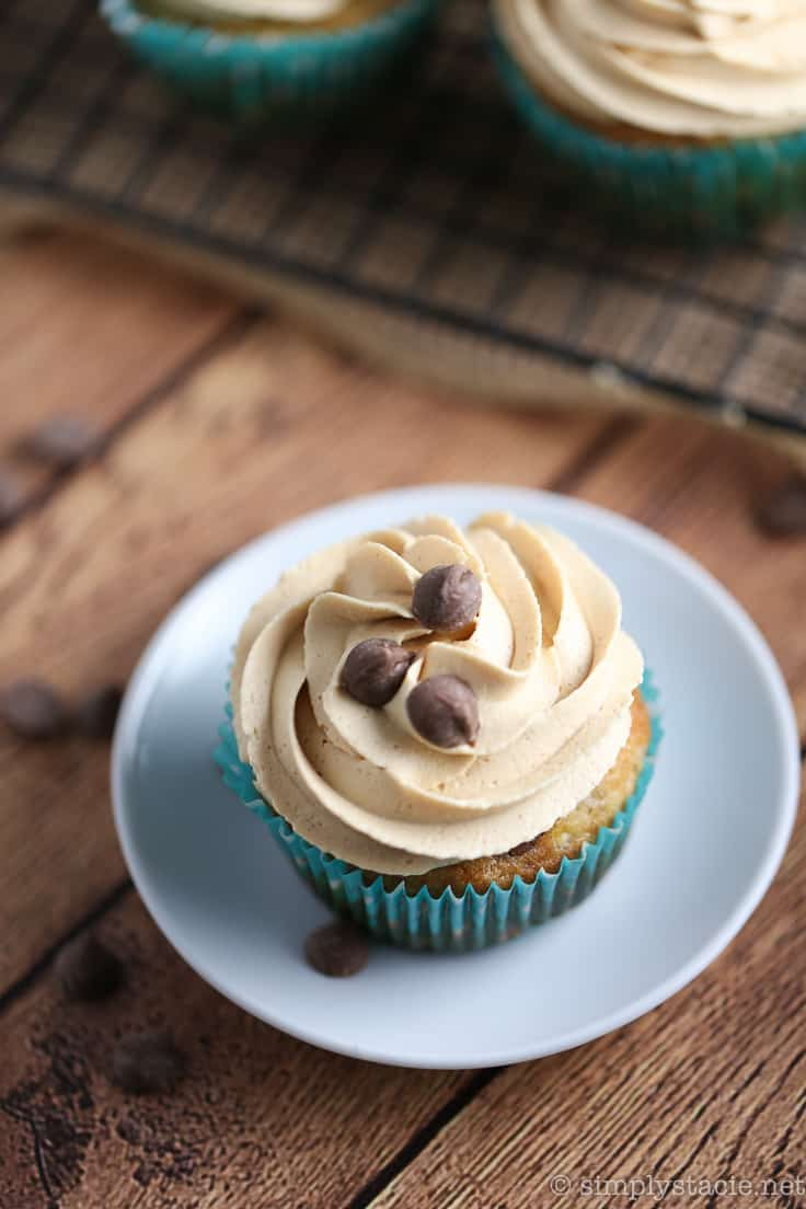 Banana Chocolate Chip Cupcakes with Peanut Butter Frosting - The epitome of decadence! One of the yummiest cupcake recipes yet!