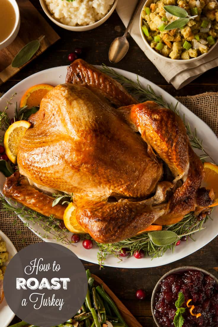 How to Roast a Turkey - Learning how to a roast a turkey is easy with these simple tips. Enjoy a turkey dinner that is perfectly cooked and a hit with your holiday guests!