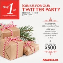Join the #12DaysofKanetix Twitter Party on December 1st!